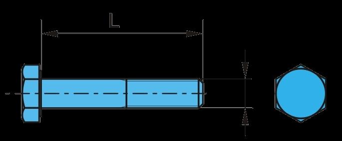 0754819 Болт рессоры SAF М30 L=200mm