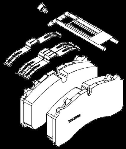 6402229232 Кмт тормозных колодок суппорта Wabco MAXX 22T