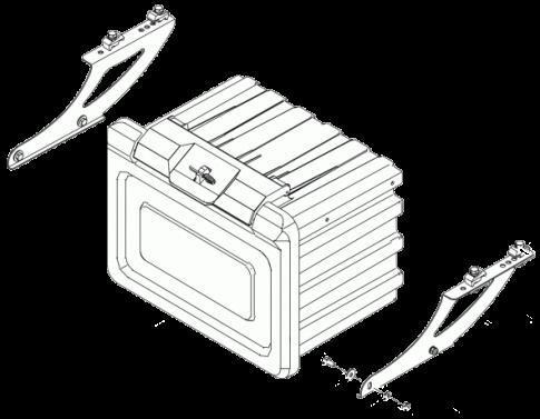 6109737 Ящик с кронштейнами в сборе