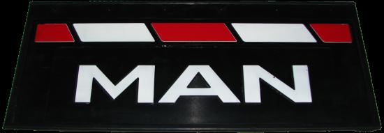 90143 Кмт задних брызговиков 660-270mm MAN красно-белый