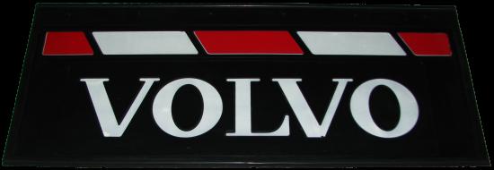 90145 Кмт задних брызговиков 660m-270mm VOLVO красно-белый