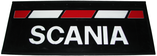 90146 Кмт задних брызговиков 660-270mm SCANIA красно-белый