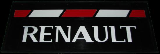 90147 Кмт задних брызговиков 660-270mm RENAULT красно-белый