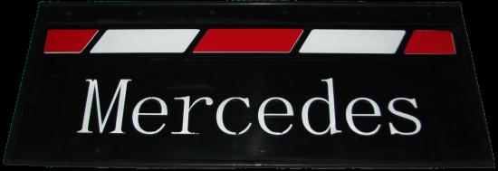 90148 Кмт задних брызговиков 660-270mm MERCEDES красно-белый