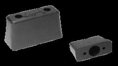 198900 Отбойник резиновый задний 120x50x70mm