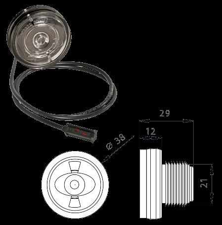 316704067 Габарит LED круглый передний белый, кабель 0,5m