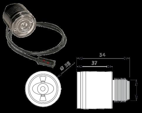 316704117 Габарит LED круглый передний белый, кабель 3,5m
