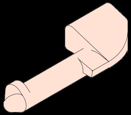 438715 Приварной палец под петли борта