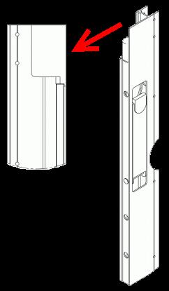 591161 Запорный левый профиль бокового борта