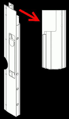 591162 Запорный правый профиль бокового борта