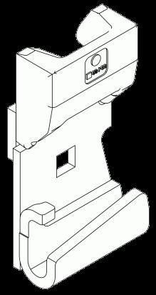 348314 Приварной упор для средней откидной стойки