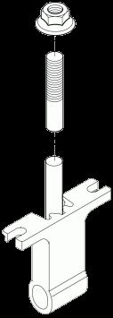 Петля борта заднего с болтом 600мм_(6354872)