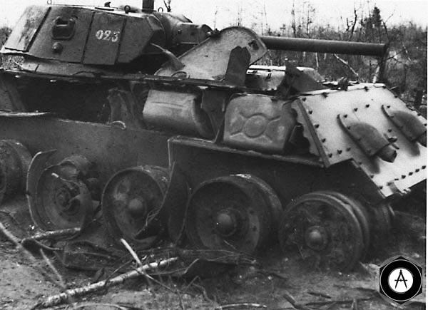 Т-34-76 взорван 1941