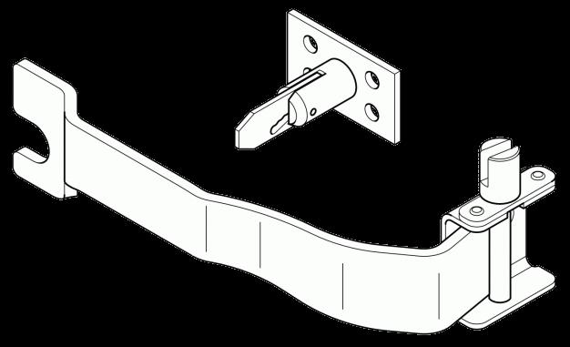 6100856 Кмт L механизма натяжки тента и держателя