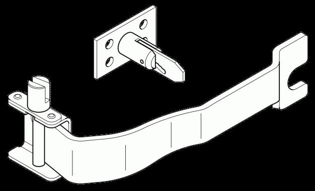 6100857 Кмт R механизма натяжки тента и держателя