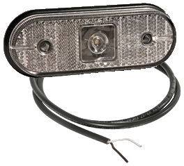 0652LW Фонарь LED габарита белый овальный