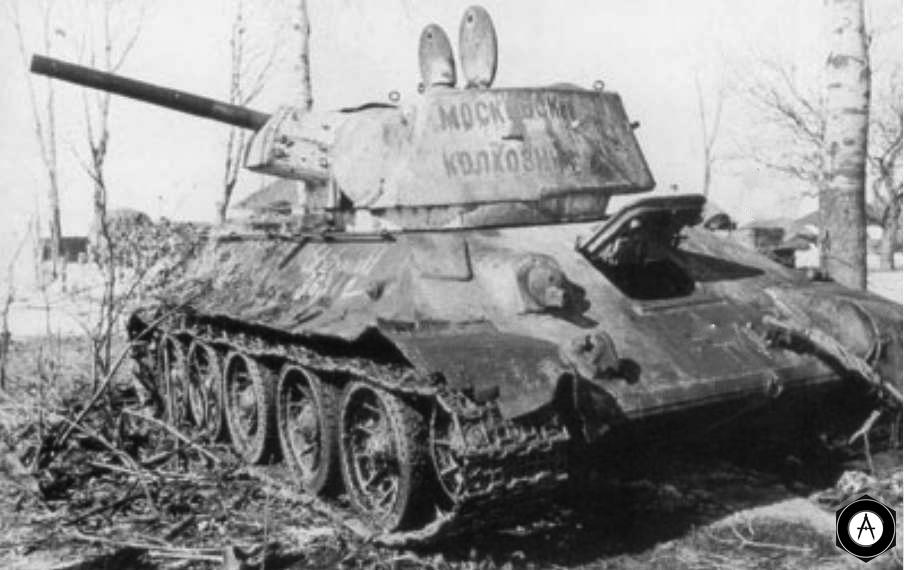 Т-34 Московский колхозник подбит 1942