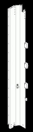 595660 Стойка передняя левая штора-борт