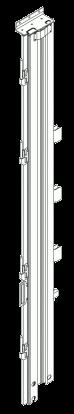 596702 Стойка задняя левая CNCS штор-борт