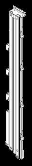 21001750 Стойка угловая задняя левая стальная