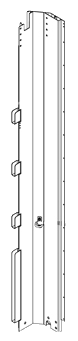 21001927 Стойка объемная передняя левая стальная