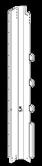 21001928 Стойка объемная передняя правая стальная