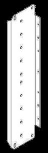 6121096 Рамка розеток боковая секция