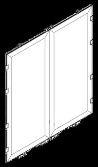 80200001 Кмт дверей портала заднего алюминиевые