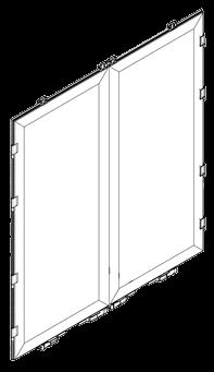 80200056 Кмт дверей заднего портала из сендвич-панели пластик