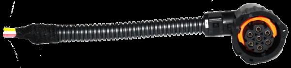 TransMash RUS. 57810620. Разъём угловой подключения заднего фонаря байонет 7-pin MAN/VOLVO/RENAULT_
