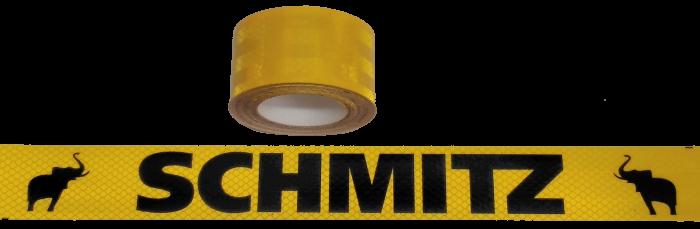 380396 Светоотражающая жёлтая лента, логотип SCHMITZ-чёрный, 6,5м