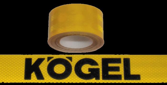 380408 Светоотражающая жёлтая лента, логотип KOGEL-чёрный, 6,5м