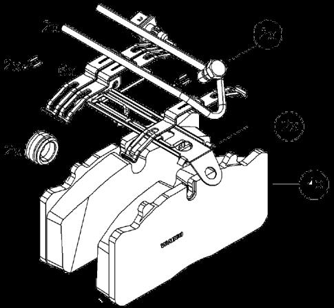6401759232 Кмт колодок с установочным комплектом суппорта WABCO