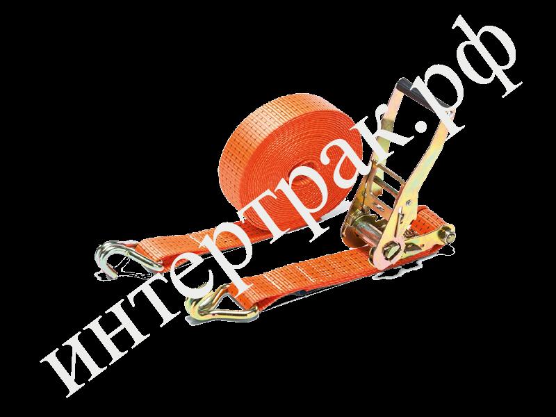 Ремень стяжной крепления груза10м*50мм  2/4 тонны с крюками 2000/4000 MAX 4000/8000 502030