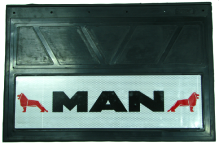 90152 Кмт 2шт Логотип MAN светоотражающих брызговиков 600x400mm