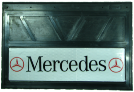 90153 Кмт 2шт Логотип MERCEDES светоотражающих брызговиков 600x400mm