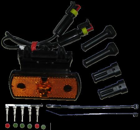 31-2464-024 Фонарь боковой оранжевый с кронштейном LED SCHMITZ