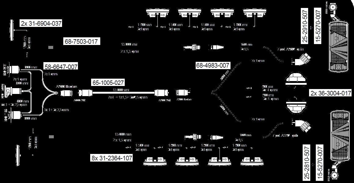 96-0169-231 Кмт электрики полуприцепа ECOPOINT II