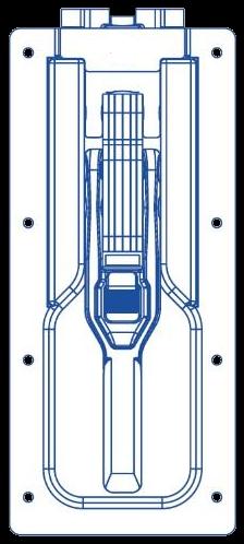 385.102745 Замок бокового и заднего борта горизонтальный без Т-ригеля