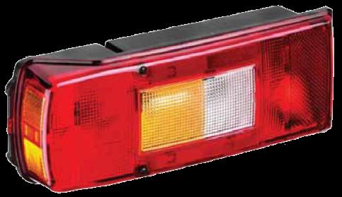5511614 Задний фонарь с подсветкой номера левый с AMP разьёмом VOLVO, ГАЗ NEXT