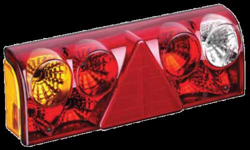 TransMash RUS. 5611455. Фонарь задний левый с кабелем жёлтый поворот. SCHMITZ EUROPOINT II_