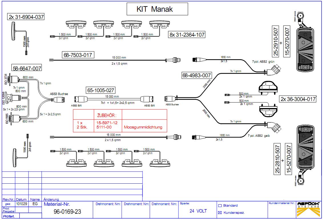 96-0169-23 комплект электропроводки Кёгель 2005-20