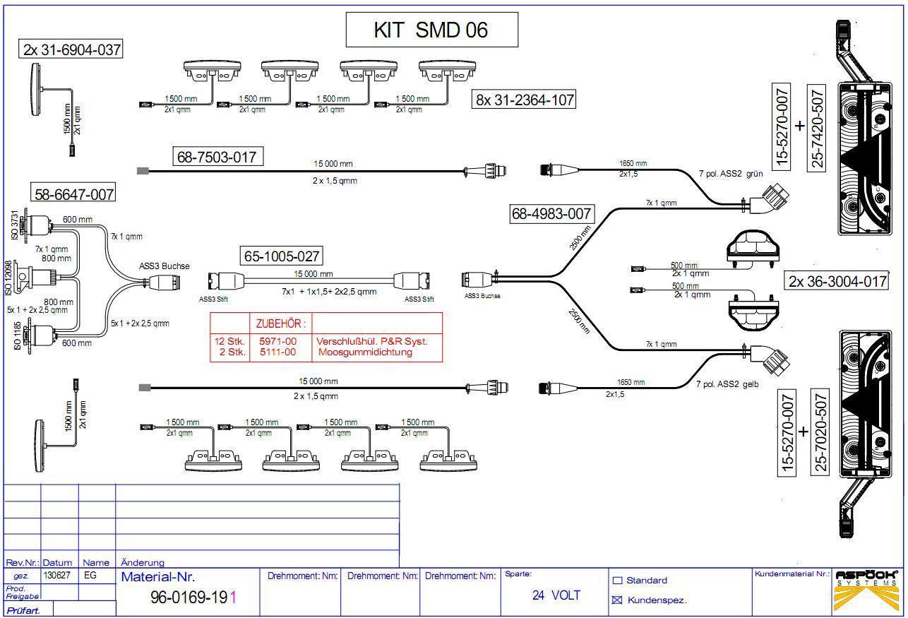 96-0169-191 комплект проводки освещения KOGEL 2012