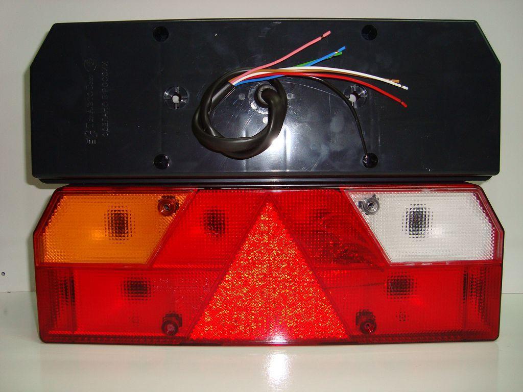 TransMash RUS. 56023011. Фонарь задний Прицеп Левый желтый поворотник с кабелем
