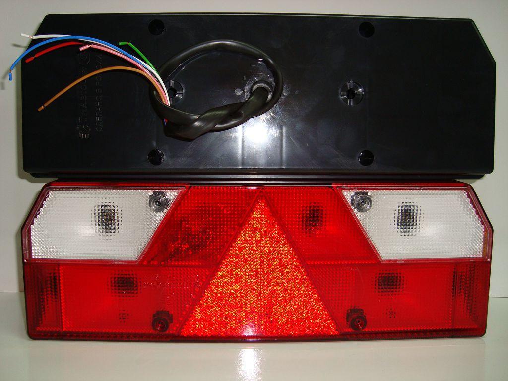 TransMash RUS. 56023021. Фонарь задний Прицеп Левый белый поворотник с кабелем