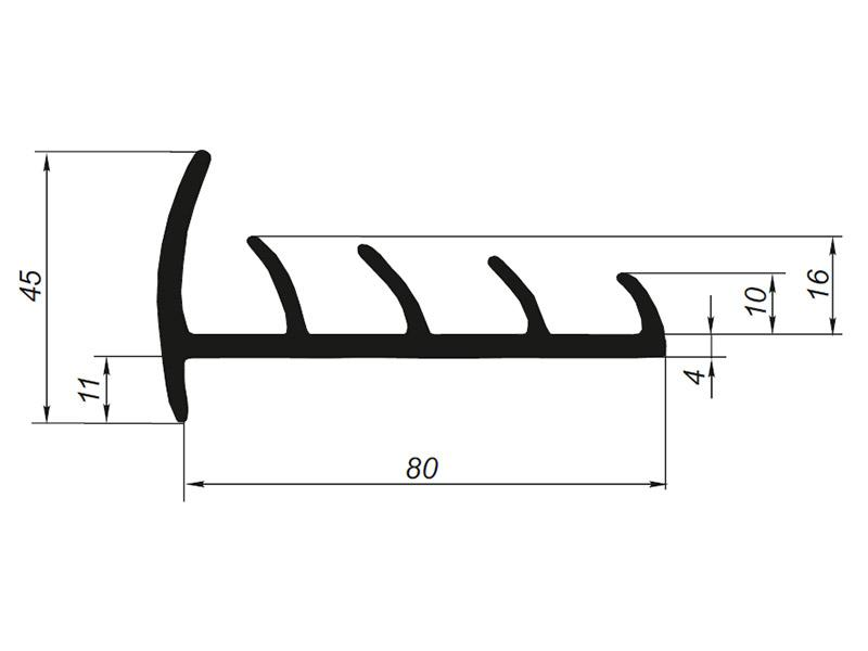 905010 Профиль уплотнительный для рефрижератора