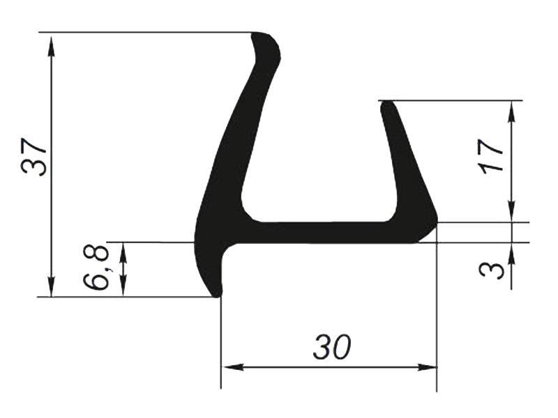 905013 Профиль уплотнительный для контейнера тип