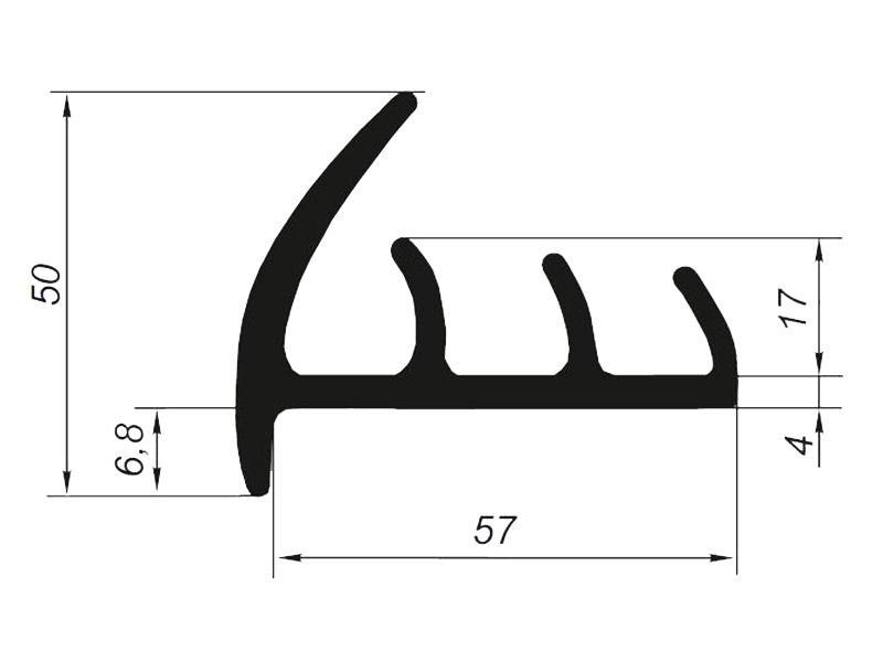 905014 Профиль уплотнительный для рефрижератора