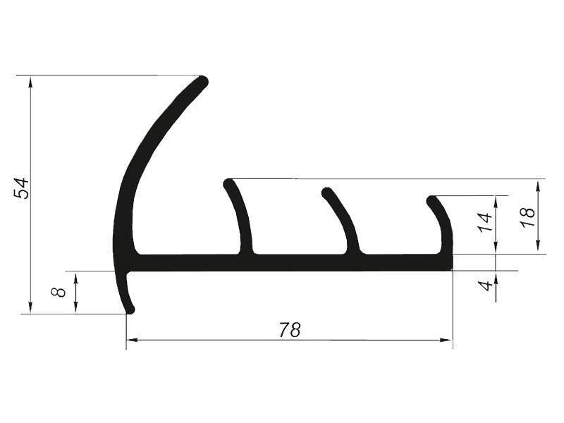 905016 Профиль уплотнительный для рефрижератора