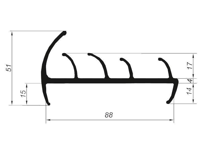 905018 Профиль уплотнительный для рефрижератора